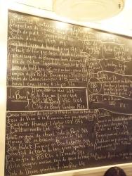 A closer look at the menu.