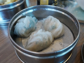 The pork dumplings with leeks/Chinese chives and pork were good but...
