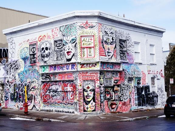 Some striking graffiti.