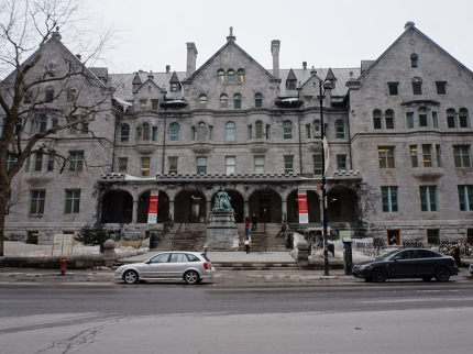 Right by my hotel, this is McGill University's music building.