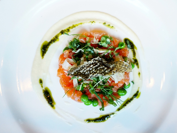Cured Salmon & Sweet Peas