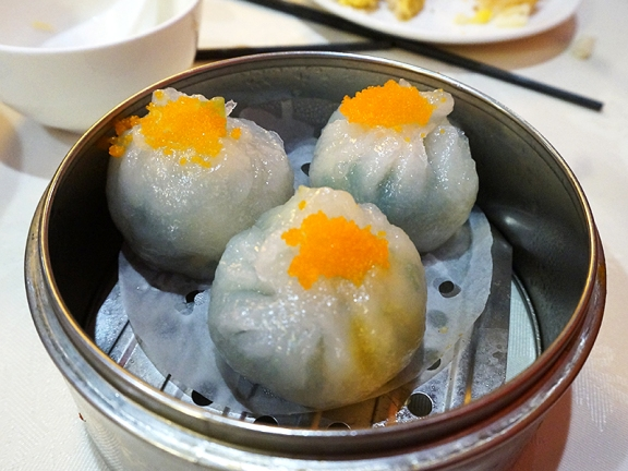 But I had no complaints about these leek dumplings---the fish roe is entirely superfluous though.