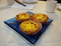 Decadently good Macau style egg tart.