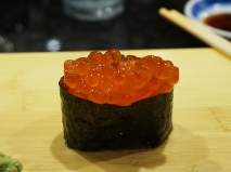 I hope you can actually see what's wrong with the salmon roe.