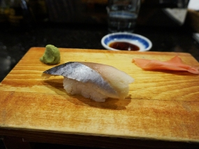 The saba was a bit too chewy. As to whether this was due to freshness or the cure, I'm not sure.