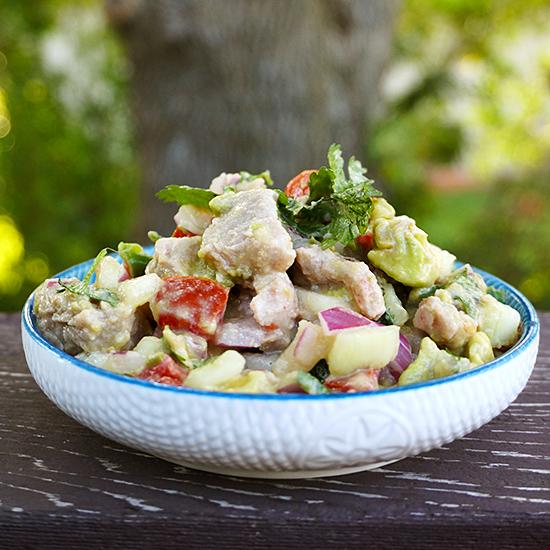 Tuna Ceviche with Avocado and Tomato