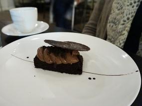Chocolate Pudding Cake: salty cashew ice cream, cocoa nib