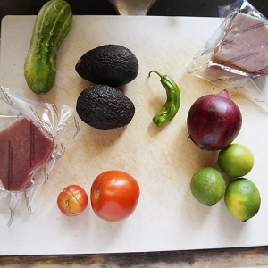 Ceviche: Ingredients