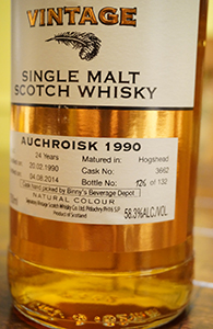 Auchroisk 24, 1990, Signatory for Binny's