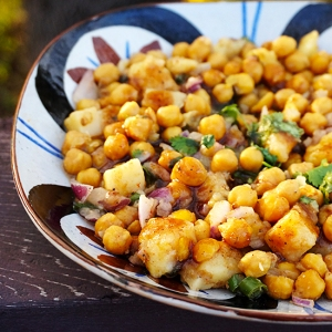 Chickpea-Potato Chaat