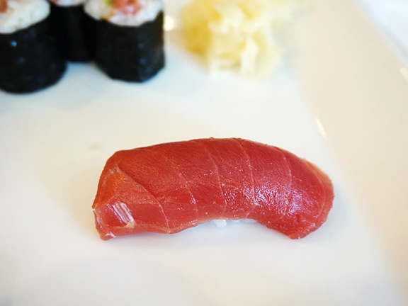 "As was the hon maguro (and yes, I now know to always say ""no bluefin"")."