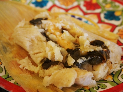 Rajas (roasted poblano pepper) and queso/cheese.
