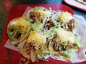 A whole bunch of tacos.