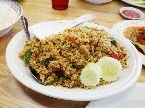 This basil fried rice is quite nice,