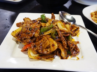 This is the one item that is translated on the list. It's a very nice spicy, slightly sweet stir-fry.