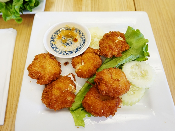 Appetizers/Snacky Things first: These shrimp patties are very nice.