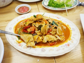 But the thick red curry with pork is better than okay.