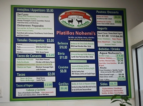 The menu posted on the wall is pretty much what's on their website, but there's more on the paper menu available by the cashier.