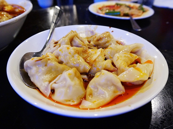 I thought I'd start the slideshow with some more familiar items. Their wontons and dumplings in chilli oil are always reliable.