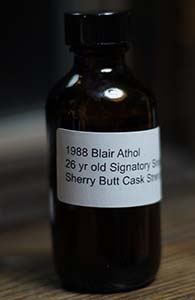 Blair Athol 26, 1988 (Signatory for K&L)