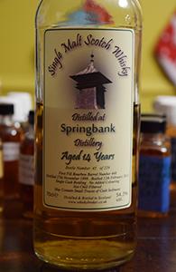 Springbank 14, 1998, Whiskybroker