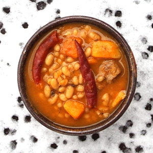 White Bean Stew with Pork and Squash