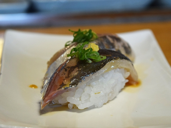 The aji/horse mackerel was quite good.