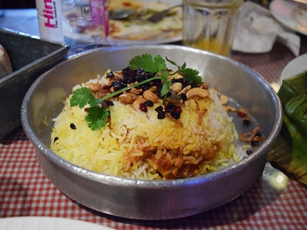 "This is an iconic dish at the iconic Irani restaurant, Britannia in Bombay, and you're more likely to like Sodabottleopenerwala's version if you haven't eaten the ""original"". All the ingredients are here but it doesn't add up."