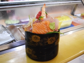 Big bowl of fish.