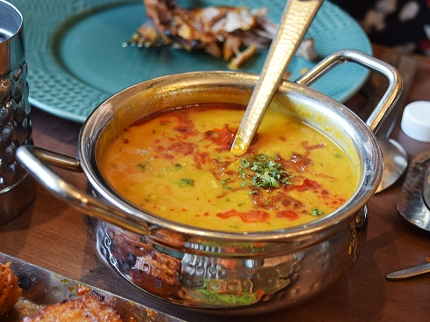 Their eponymous dal is made with red lentils and is excellent.