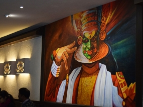 The kathakali mural.