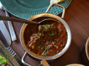 One if their signature dishes, this is a richly spiced, braised mutton/goat curry.