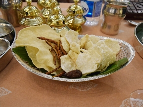 A nice assortment of papads.
