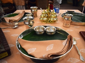 The place settings are nice though, and everything is served in heavy brass vessels.