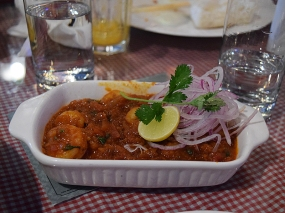 This is another classic dish which felt a little North Indian masalafied in execution. And the prawns were a bit rubbery.