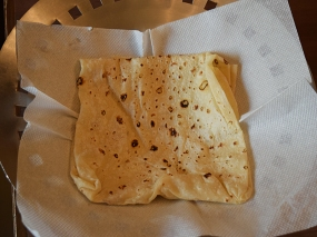 Very good rumali roti. The boys love this (handkerchief/rumal) thin roti and it's hard to get a decent version in the US.