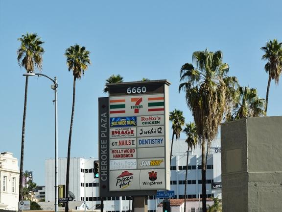 A very LA strip mall.
