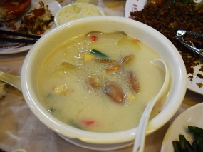 Clam soup with glass noodles...