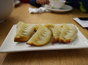 These pan-fried dumplings were also excellent. In general, these underlined the key difference between this stuff in Hong Kong and even the better places in the SGV: the dumpling skins are on another level and the technique in frying them is too.