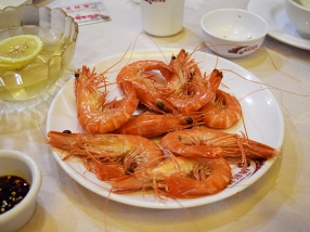 The boys inhaled these with rice (after we peeled them, of course---the shrimp, not the boys).