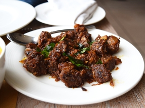 Excellent dry fried mutton. This may have been even better than the similar dish at Mahabelly.
