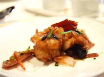 A better view of an exquisitely prepared prawn.