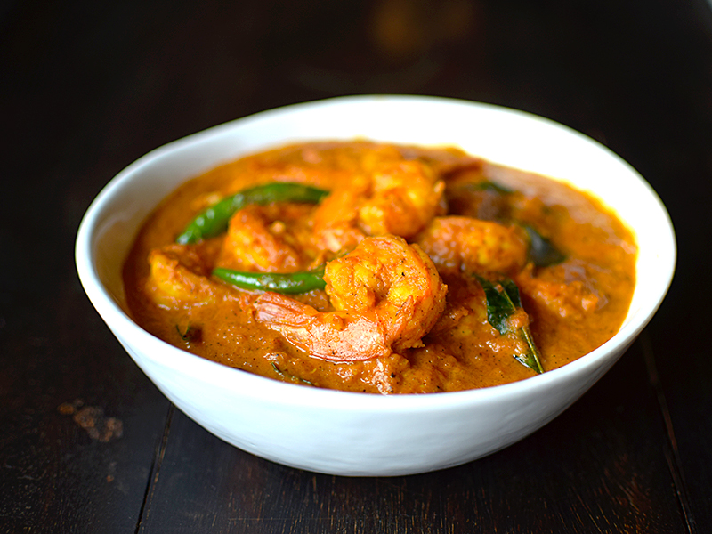 Hot and Sour Shrimp Curry with Coconut Milk