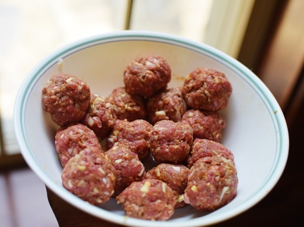 And form the meatballs/koftas