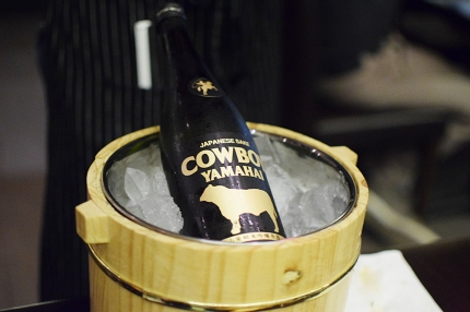 """But first, more sake! Jun recommended the """"Cowboy"""" as one that goes well with meat."""