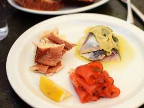 And a small plate of smoked fish. You can make three selections.