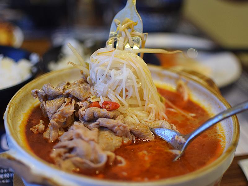 Szechuan Impression: Lamb Rice Noodle in Casserole | My