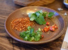 "Szechuan Impression: ""Legcrossingly Yum"" Beef: Condiments"