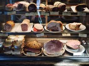 ...a large selection of charcuterie...