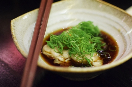 So would these tiny oysters in ponzu sauce.